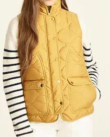 JCREW Quilted vest with PrimaLoft
