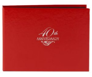 40th Anniversary Guest Book - Red, $13.49