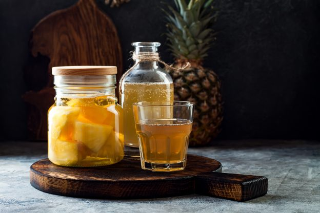 Fermented mexican pineapple Tepache