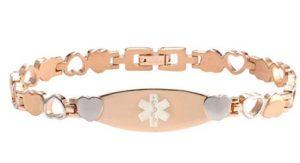 Rose Color Stainless Steel Medical id bracelet
