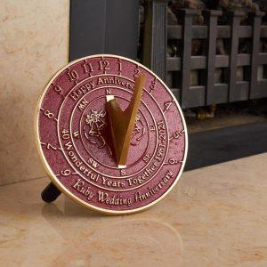 40th Wedding Anniversary Sundial Gift, $78.04