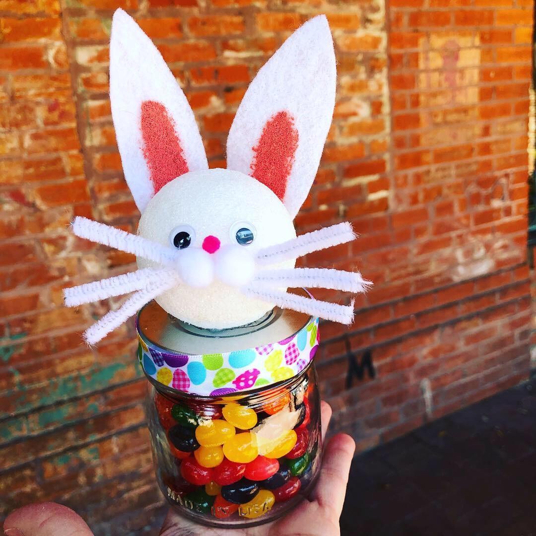 Easter Bunny Ears Jar