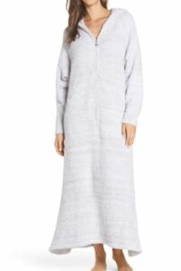 Barefoot Dreams Hooded Cozy Chic Zip Robe