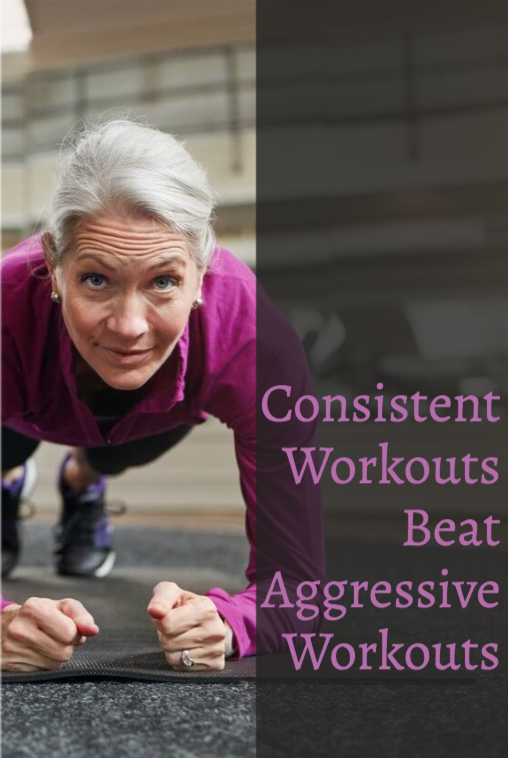 CONSISTENT WORKOUTS BEAT AGGRESSIVE WORKOUTS