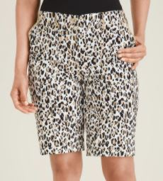 Chicos Animal Print Cargo Shorts