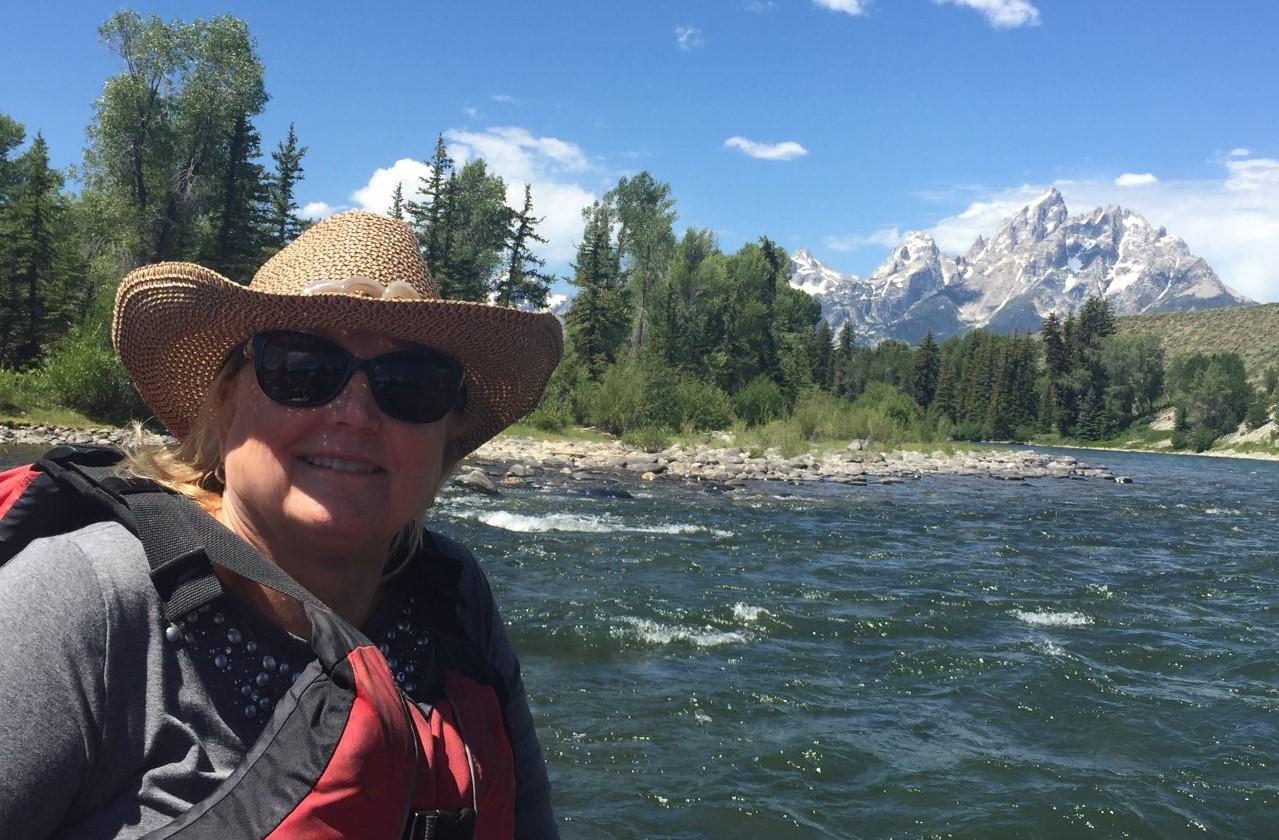 Chris Koski on the river