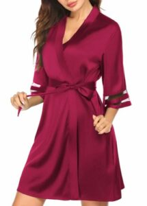 Ekouaer Womens Satin Robe Lightweight Kimono Bathrobe