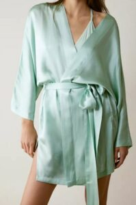 Free People Sleepless Nights Silk Robe
