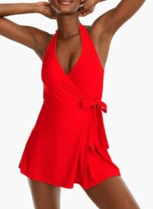 JCREW Halter wrap swim dress