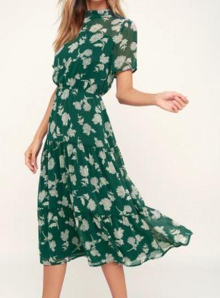 Lulus Floral Print Midi Dress