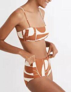 Madewell Second Wave Spaghetti-Strap Bandeau Bikini