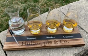 Personalized Whiskey Flight with Glasses