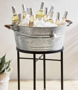 Galvanized Metal Party Bucket with Stand