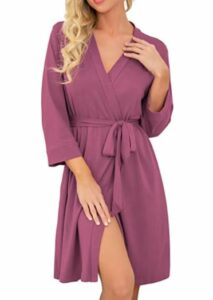PrinStory Women Kimono Robes Short Lightweight Robe