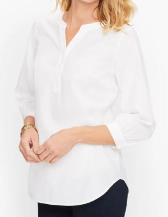 Talbots Perfect Popover Blouse