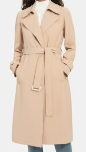 Theory Relaxed Trench Coat in Crepe