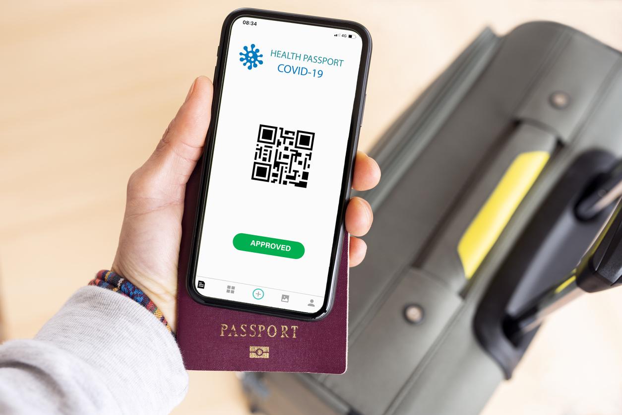 Travel passport with QR code