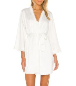 Victoria Solid Charmeuse Wrap Robe