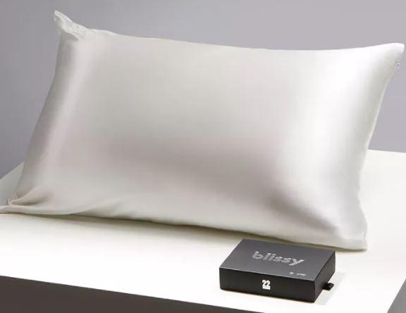 Blissy silk pillowcase for fine or thinning hair