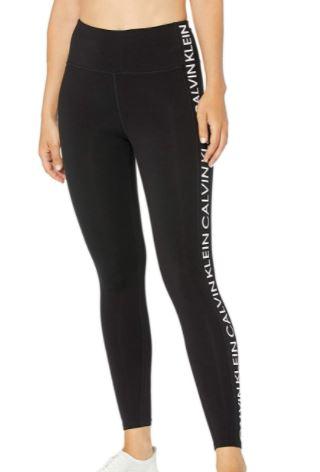 Calvin Klein Women's Premium Performance Double Waistband Moisture Wicking Legging