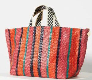 Clare V. Bateau Woven Tote Bag