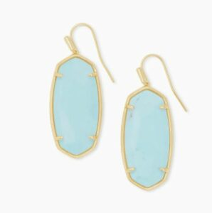 Faceted Elle Gold Drop Earrings for high school graduation gifts