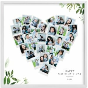 Floral Heart Snapshot for high school graduation gifts