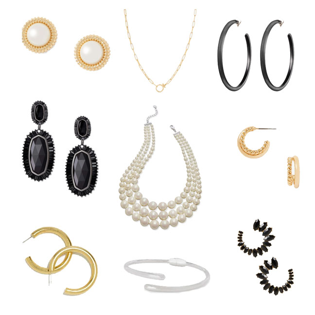 Jewelry for a funeral outfit