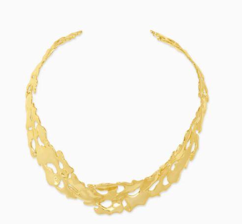 Kendra Scott Savannah Collar Necklace In Gold