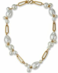 Kenneth Jay Lane Simulated-Pearl Cluster Necklace
