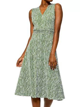 Leota Cindy Printed Midi Dress