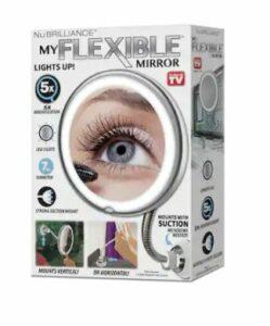 Nubrilliance LED My Flexible Illuminated Mirror Silver