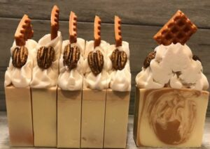 Pecan Waffle Frosted Soap