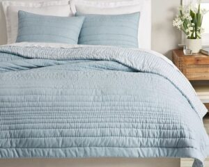 Pottery Barn Waterfall Cotton Reversible Quilt