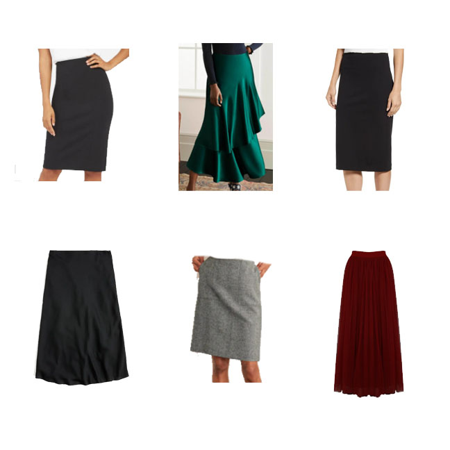 Skirts for a funeral outfit