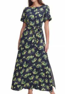 Tommy Hilfiger Puff-Sleeve Twill Maxi Dress