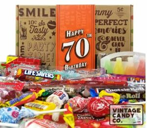 Vintage Candy Co. 70th Birthday Retro Candy Gift Box