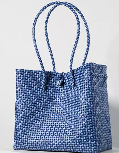 Anthropologie Woven Basket Tote Bag