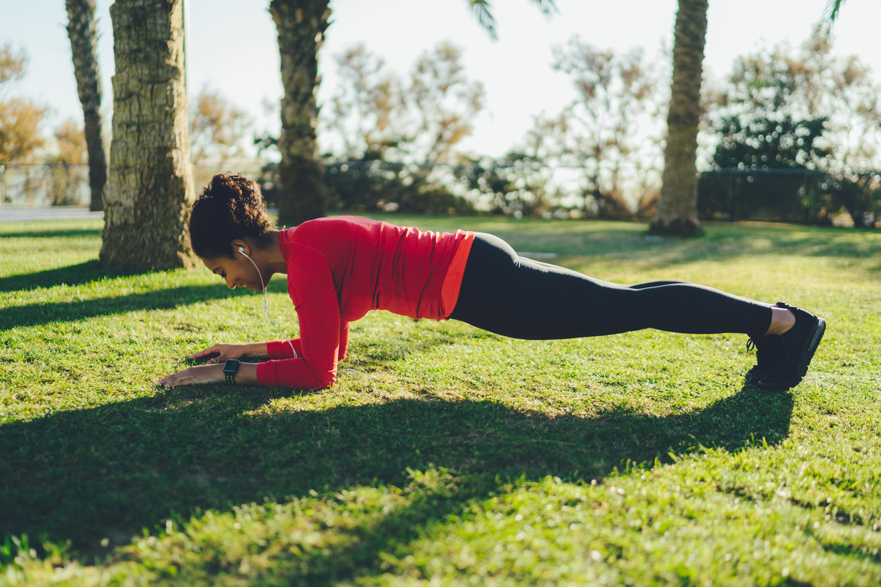 strengthen your core with a plank