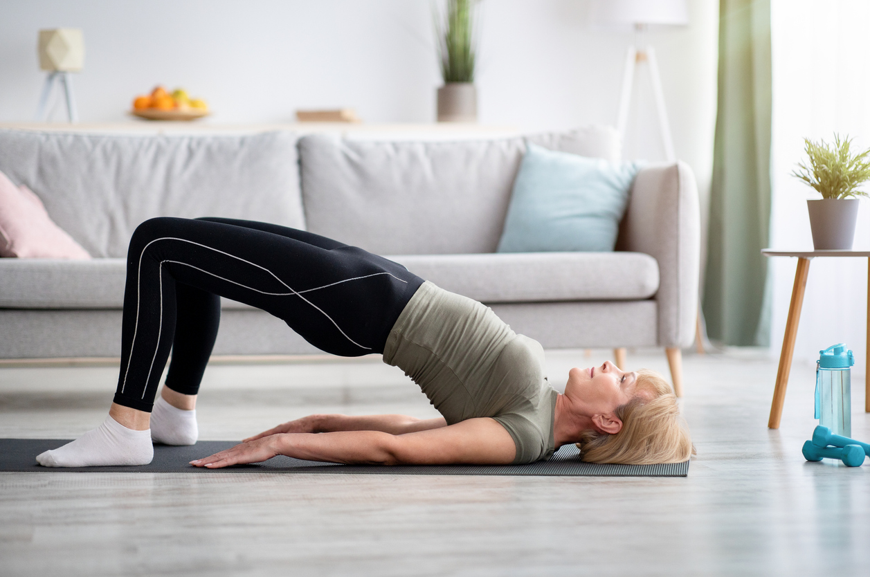 strengthen your core with a bridge