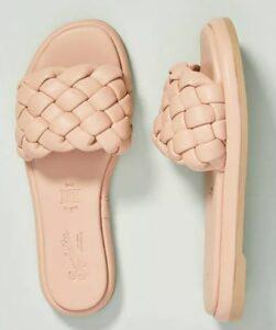 Anthropologie Seychelles Puffy Woven Slide Sandals