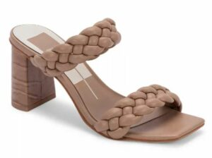 Dolce Vita Women's Paily Braided Double Strap High Heel Sandals