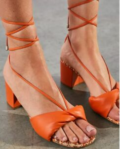 Free People Dolly Bandana Wrap Heels