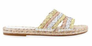 Sophia Webster Ines Metallic Flat Espadrille Sandals