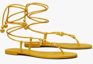 Tory Burch Capri Flat Lace Up Sandal