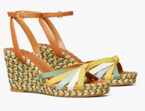Tory Burch Multicolored Wedge Espadrille