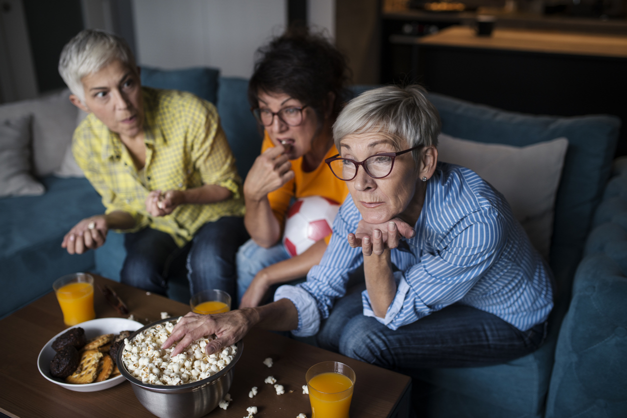Binge watch a TV show as an opportunity to meet up with your friends