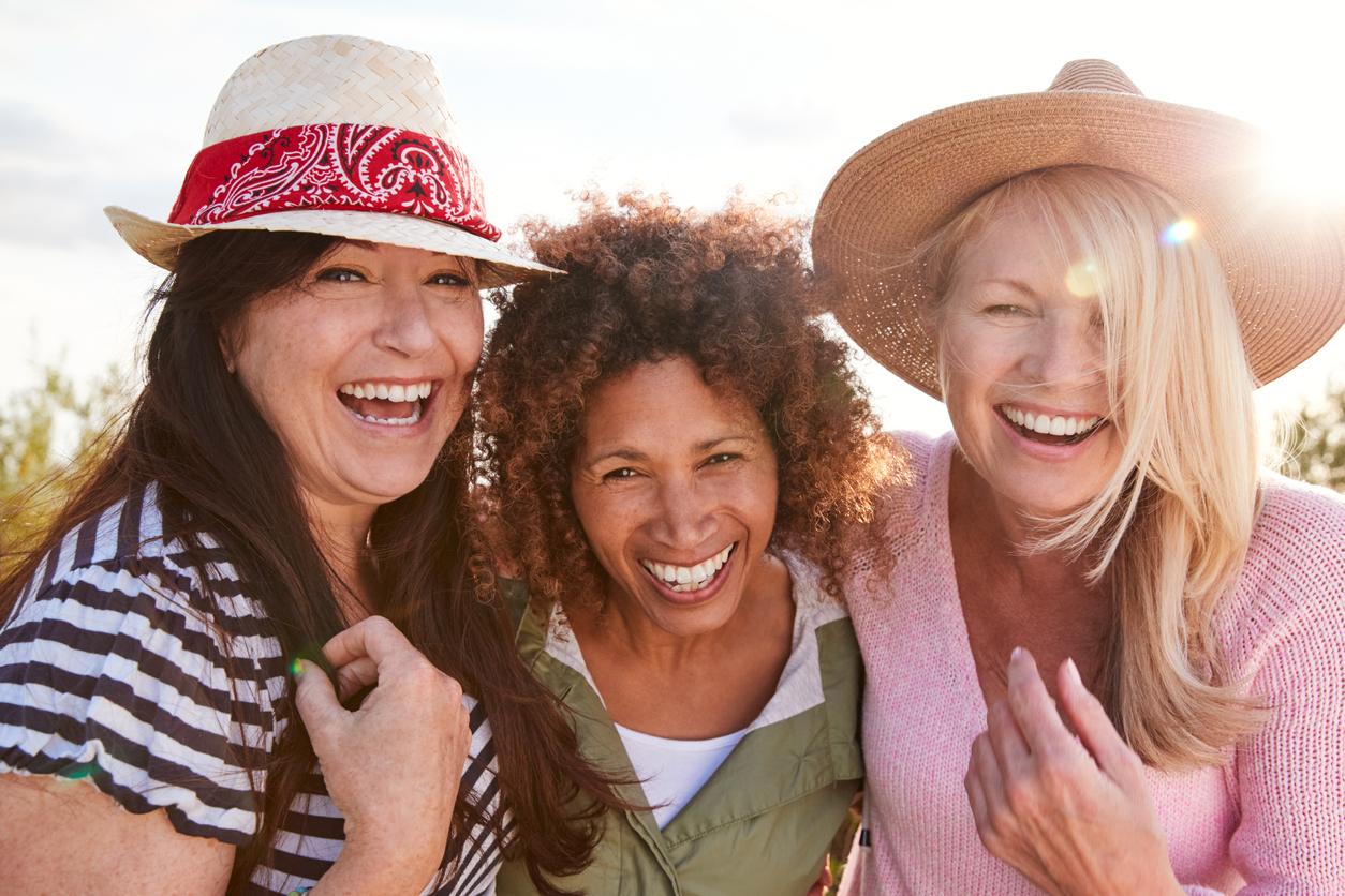 Mature women on a roadtrip for fun