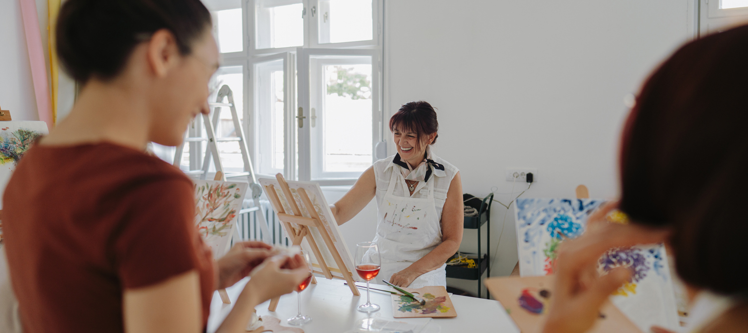 enjoy a night of painting with your friends