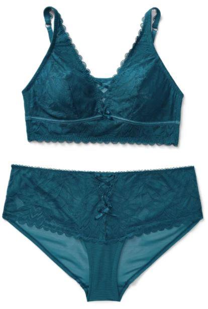 AdoreMe Alessa Unlined Plus Bralette Panty Set